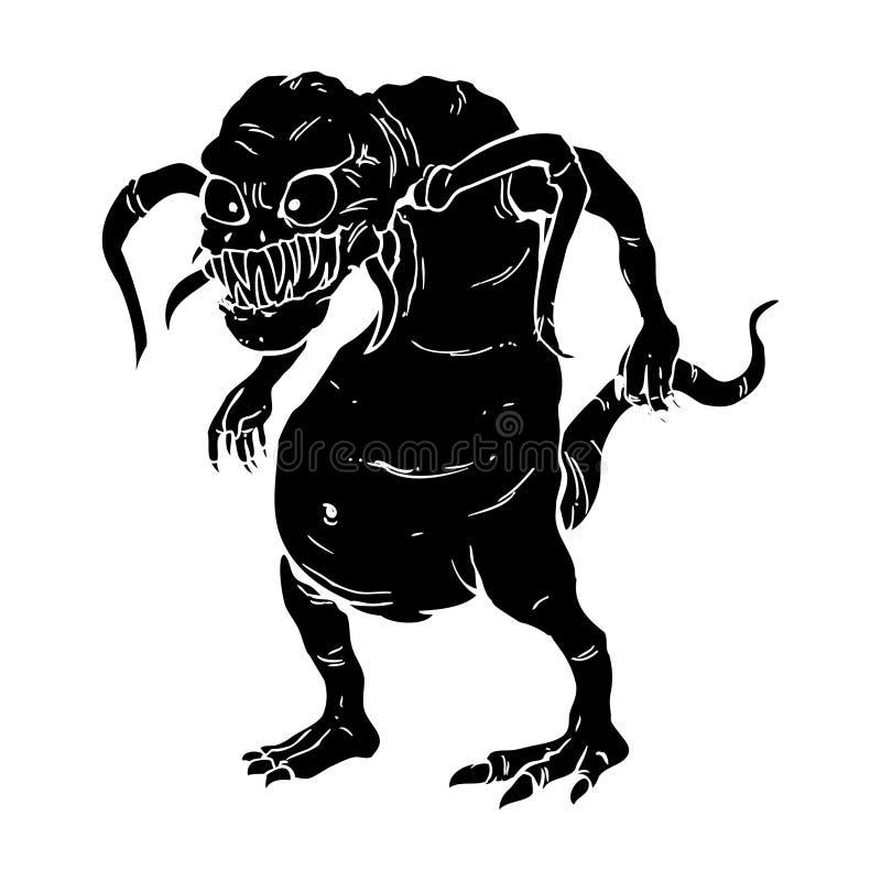 Monstre laid illustration de vecteur
