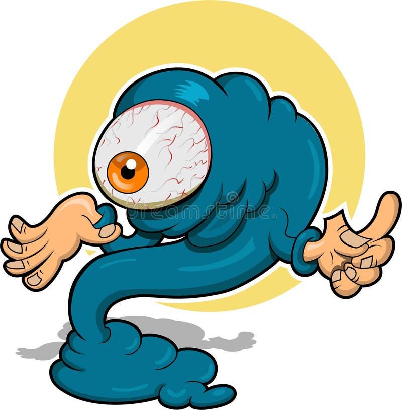 Monstre maladroit illustration de vecteur
