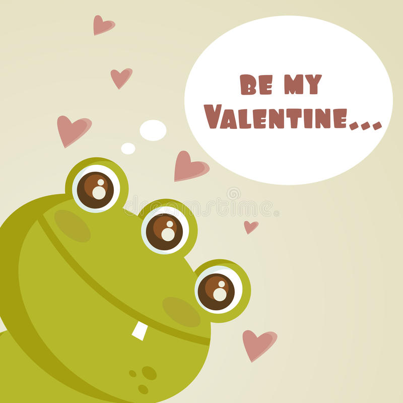 Monstre mignon dans l'amour illustration stock