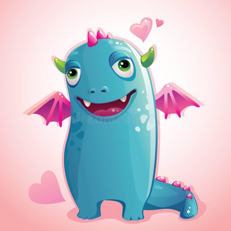 Monstre Valentine illustration stock