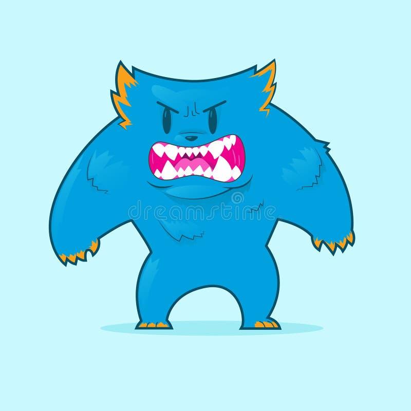 monstre velu illustration de vecteur
