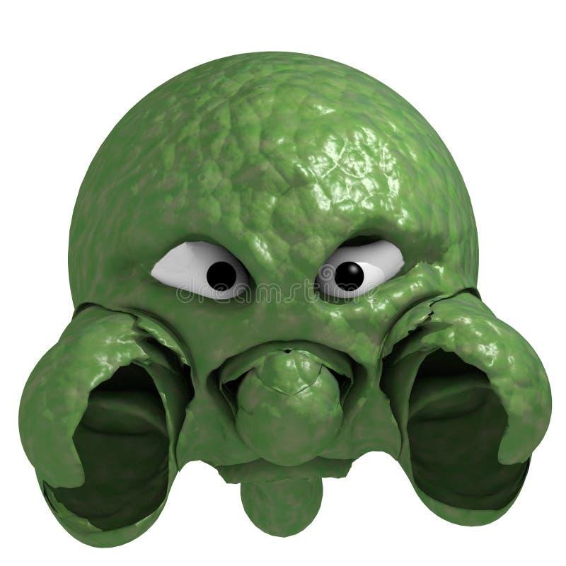 Monstre vert illustration de vecteur