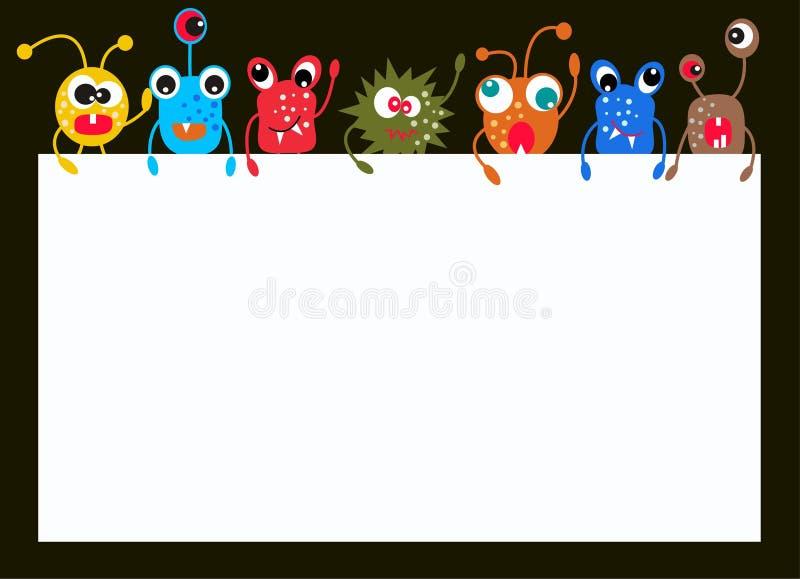 Monstres colorés illustration stock