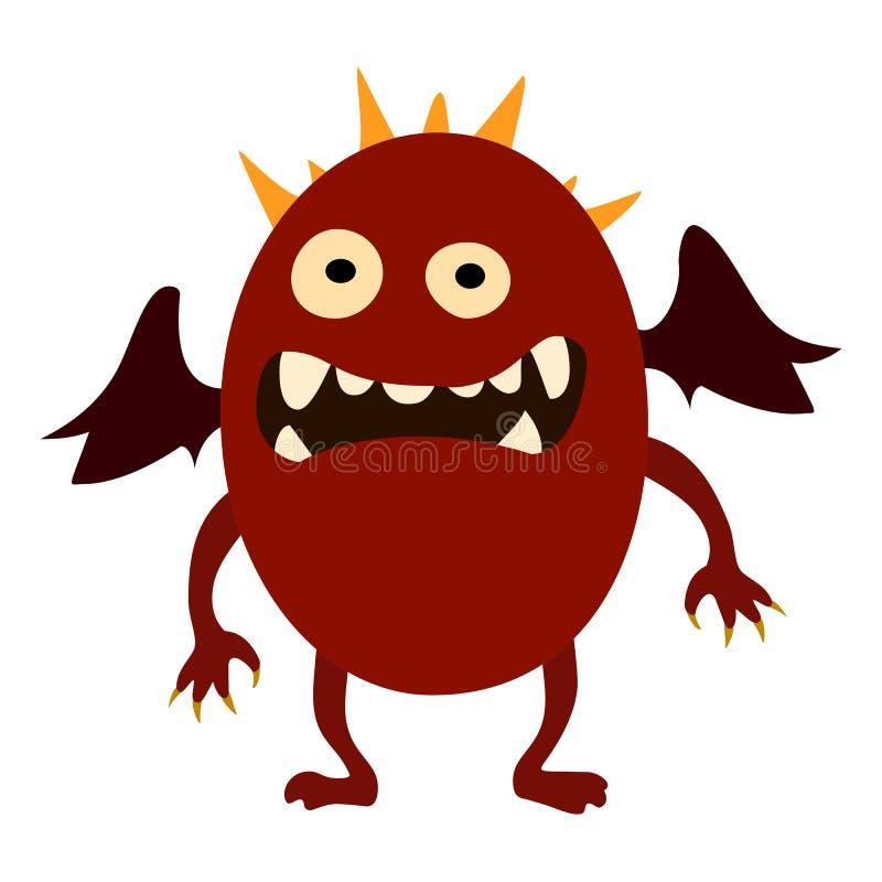 Monstres de bande dessinée réglés Monstre mignon de jouet coloré Vecteur ENV 10 illustration libre de droits