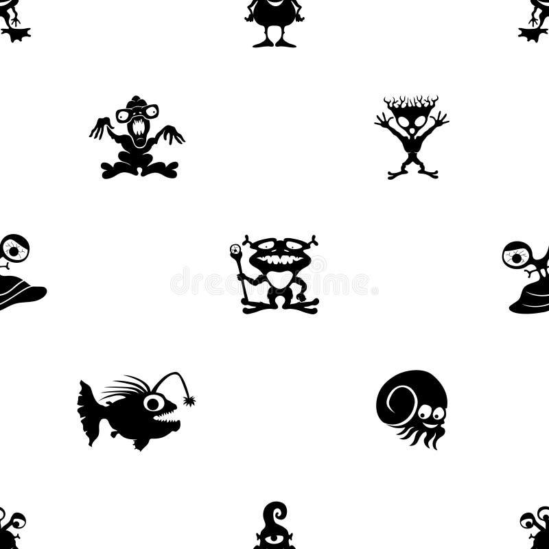 Monstres et étrangers mignons illustration de vecteur