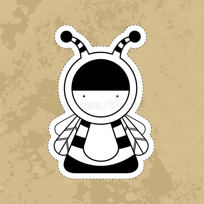 Monstres mignons de bande dessinée Vecteur photos stock