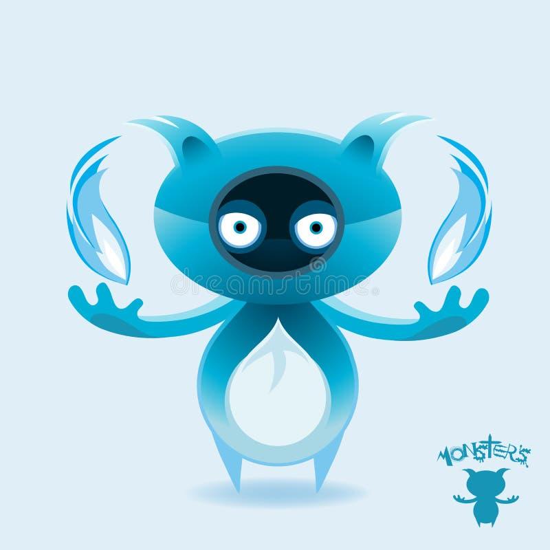 Monstres - Rockfox flambé bleu illustration libre de droits