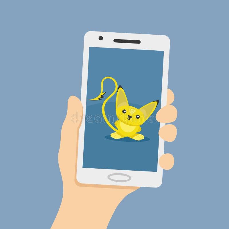 Monstro amarelo bonito ilustração stock