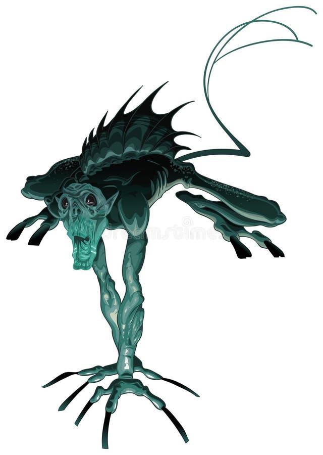 Monstro anfíbio ilustração do vetor
