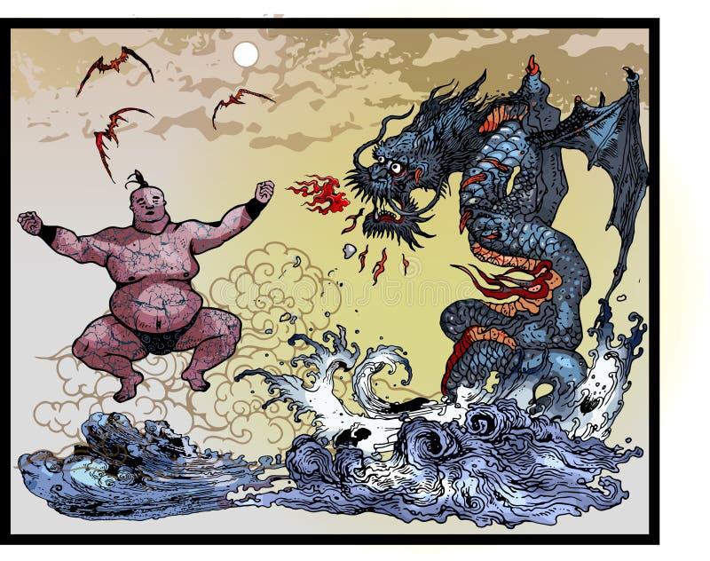 Monstro asiáticos do leste ilustração do vetor