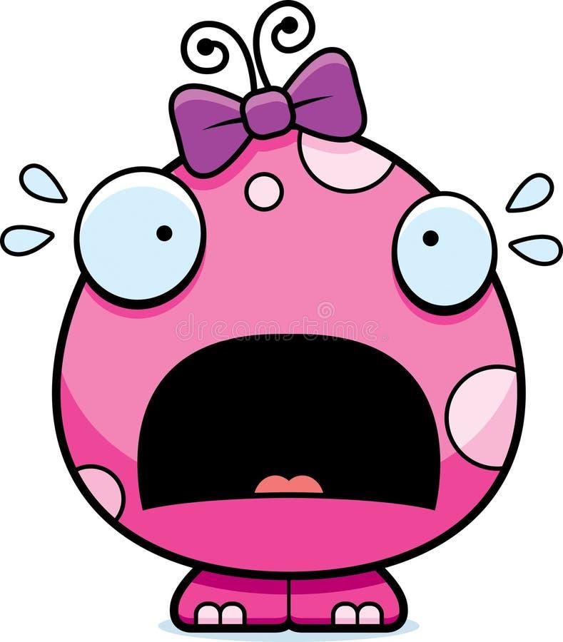 Monstro assustado do bebê dos desenhos animados ilustração stock