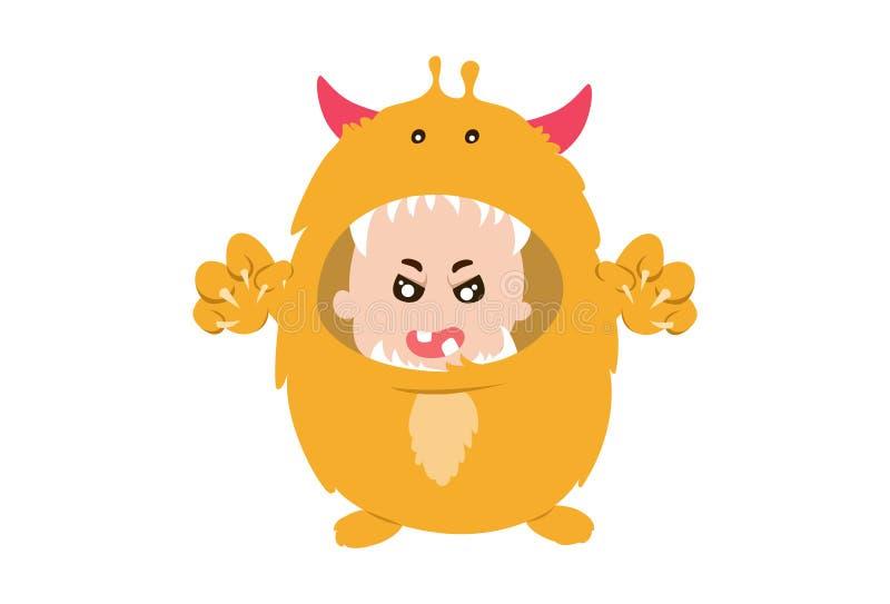 Monstro bonitos do bebê ilustração royalty free