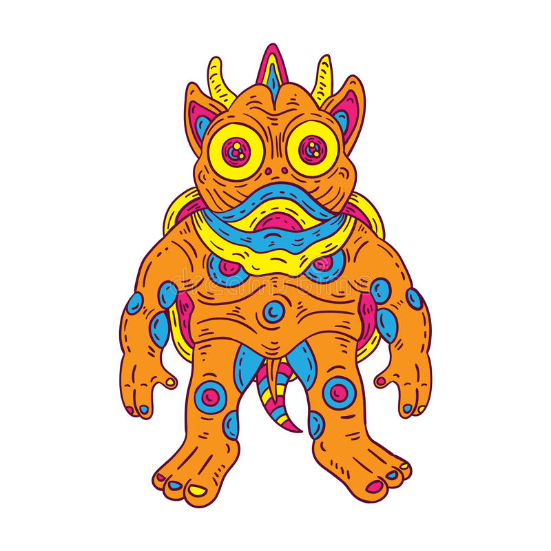 Monstro colorido ilustração do vetor