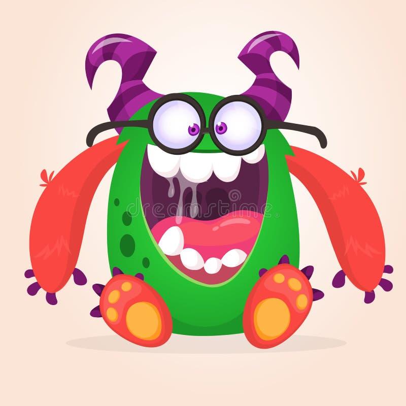 Monstro com fome dos desenhos animados excitado Ilustra??o do vetor ilustração royalty free