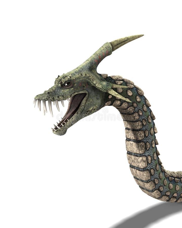 Monstro da serpente ilustração stock