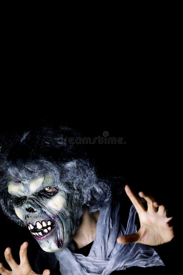 Monstro de Dia das Bruxas undead fotos de stock royalty free