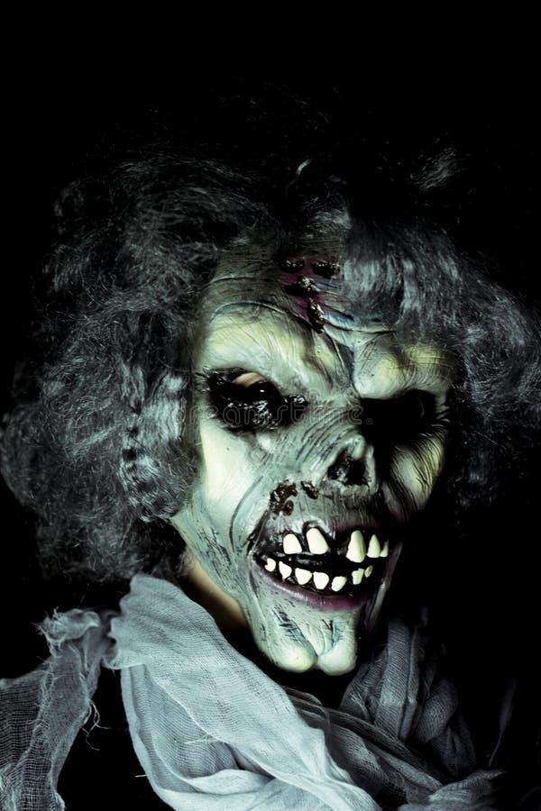 Monstro de Dia das Bruxas undead fotos de stock