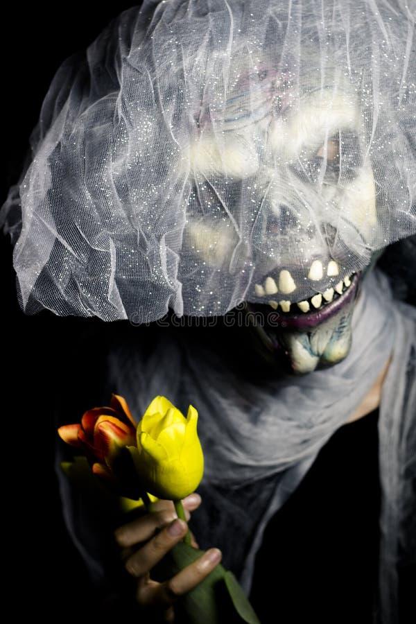 Monstro de Dia das Bruxas undead imagens de stock