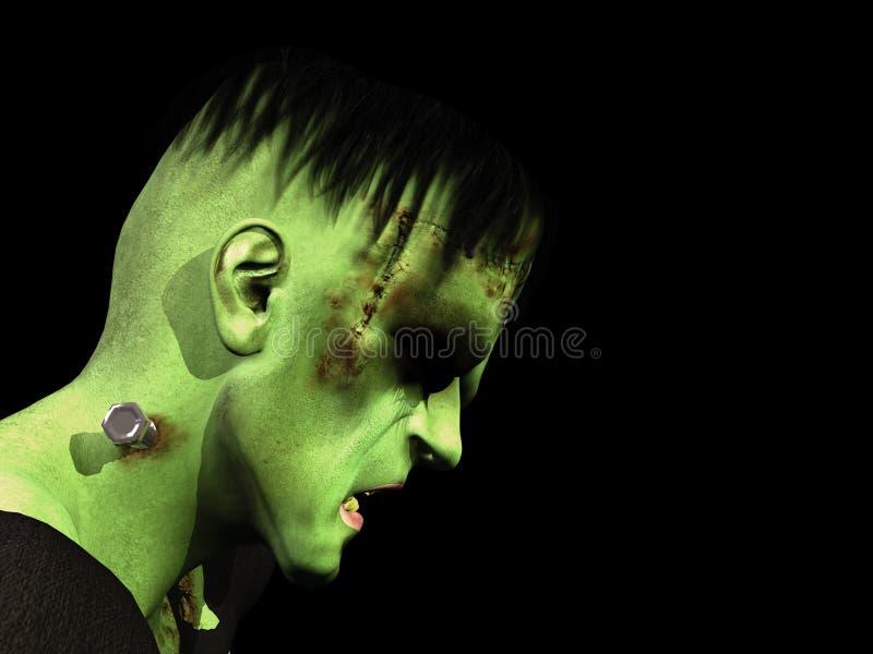 Monstro de Frankenstein ilustração royalty free