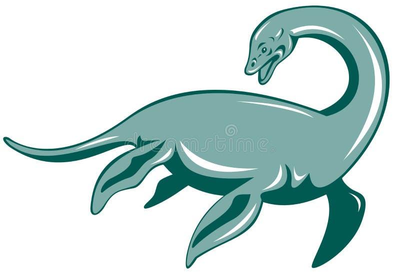 Monstro de Loch Ness ilustração stock