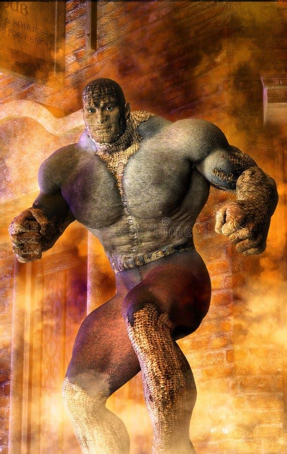 Monstro de Steampunk ilustração stock