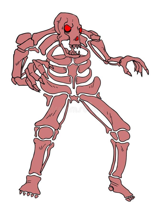 Monstro do crânio ilustração royalty free