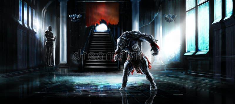 Monstro do Humanoid ilustração royalty free