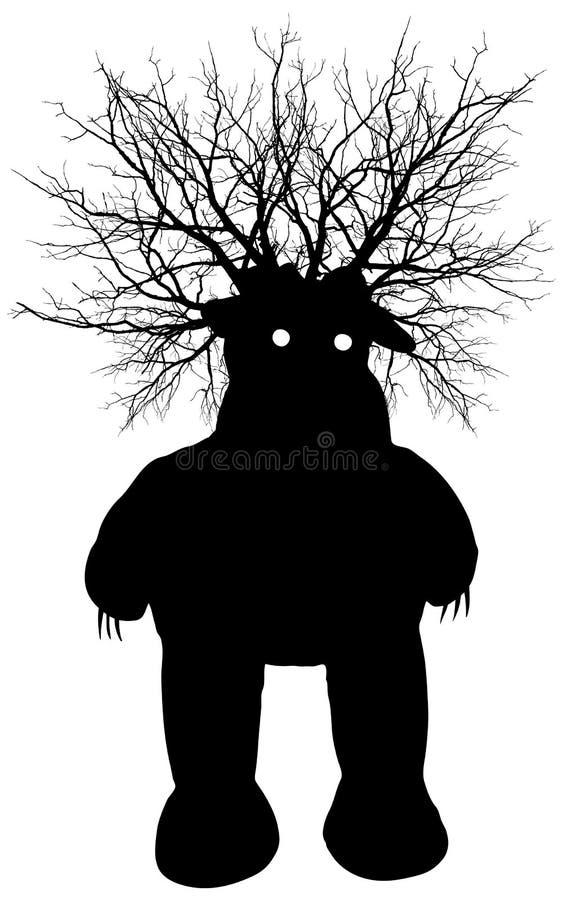 Monstro do pântano - silhueta do vetor imagens de stock royalty free