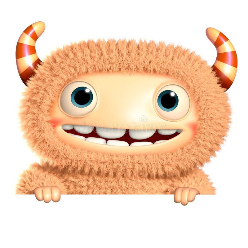 monstro dos desenhos animados 3d ilustração do vetor