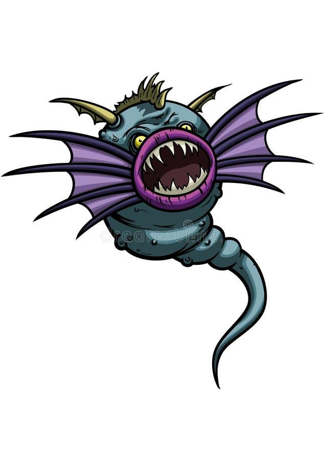 Monstro dos peixes de voo ilustração stock