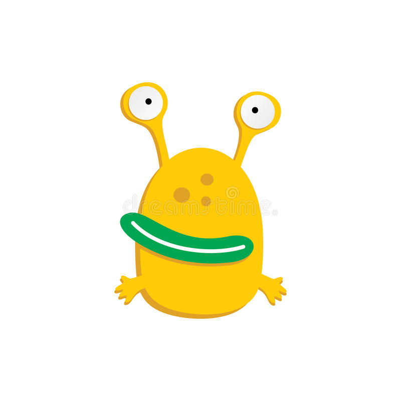 monstro engraçado assustador feio adorável bonito da mascote ilustração do vetor