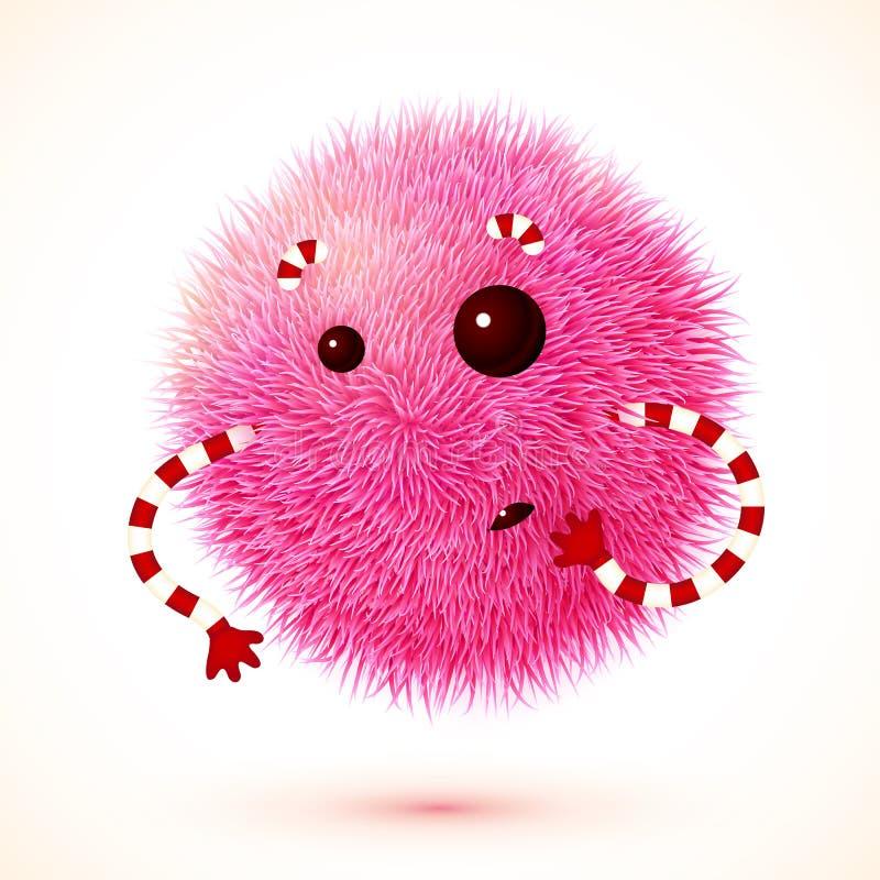 Monstro macio cor-de-rosa bonito do vetor ilustração do vetor