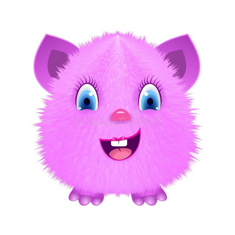 Monstro macio dos desenhos animados cor-de-rosa ilustração do vetor