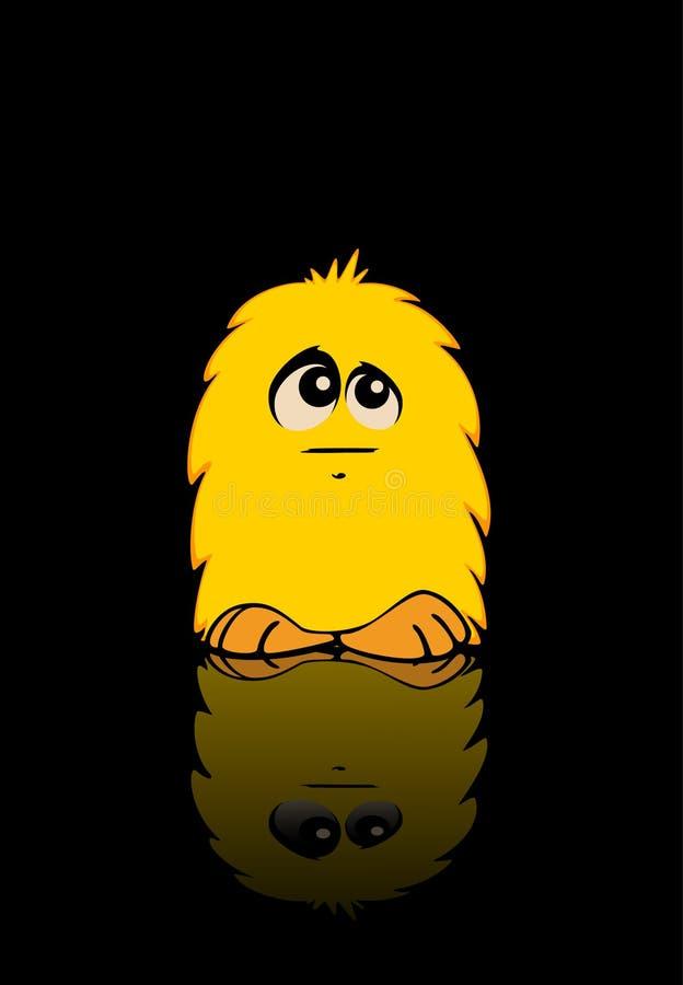 monstro pequeno amarelo ilustração royalty free