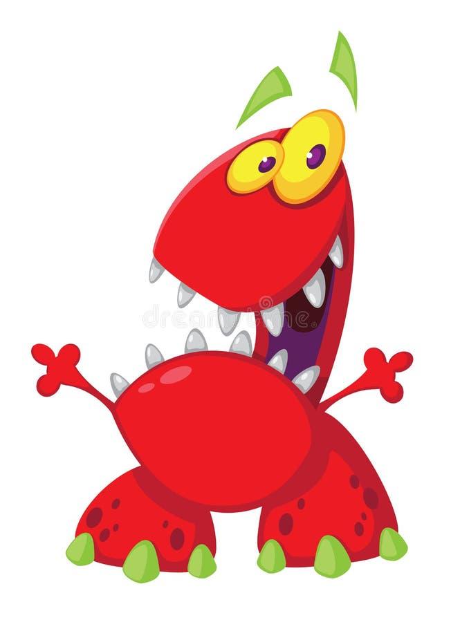Monstro Toothy ilustração stock