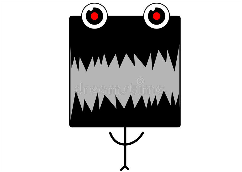 Monstro Toothy ilustração do vetor