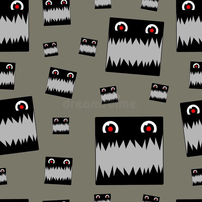 Monstro Toothy sem emenda ilustração stock