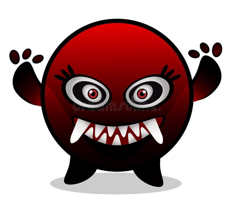 Monstro/vírus vermelhos ilustração stock