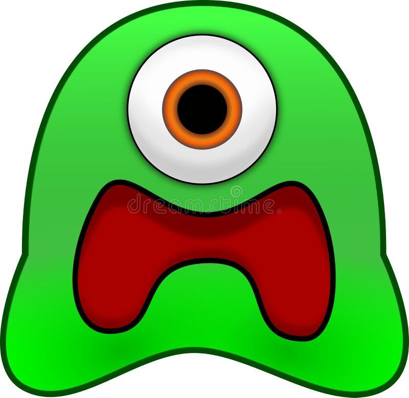 Monstro verde assustado da viscosidade ilustração do vetor
