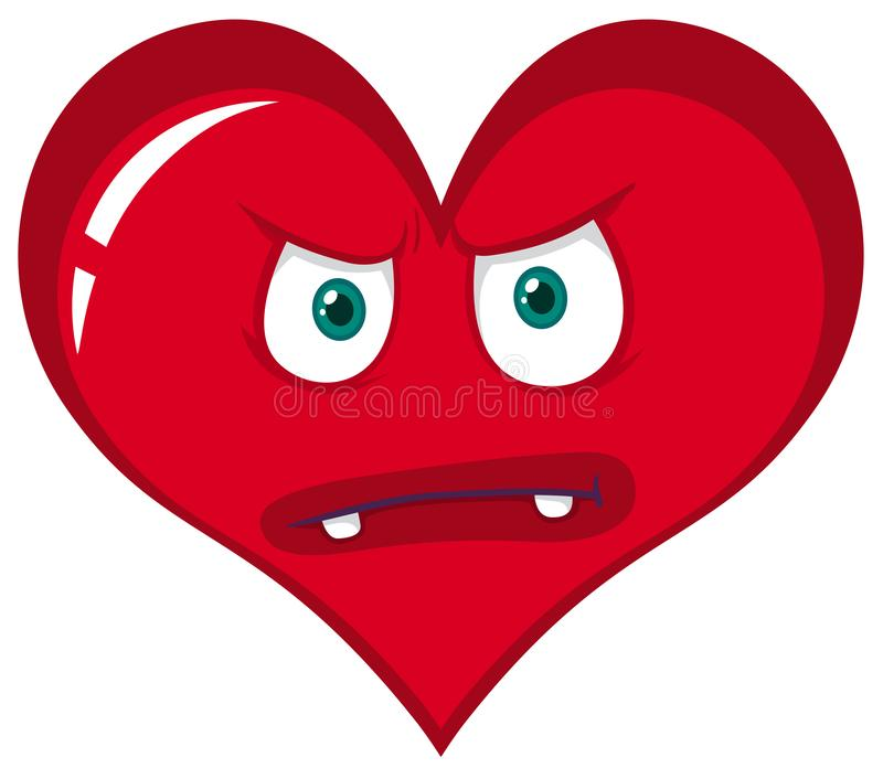 Monstro vermelho irritado do coração ilustração royalty free