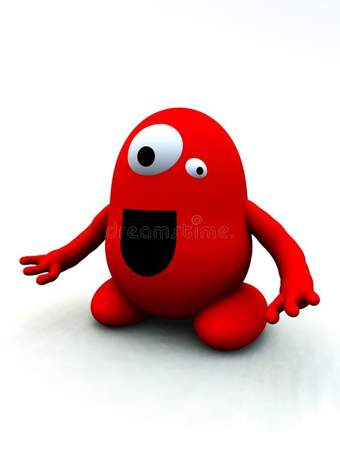 Monstro vermelho minúsculo 10 ilustração do vetor