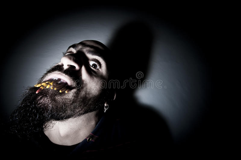 Download Monstrous Man With Long Teeth Stock Photo - Image: 17287460