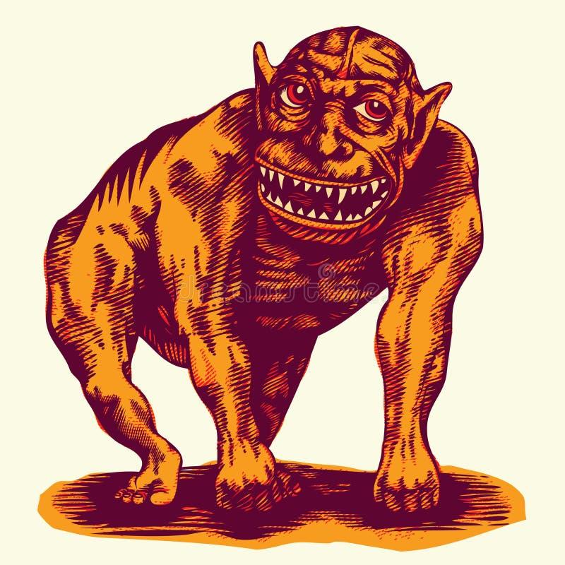 Monstruo stock de ilustración