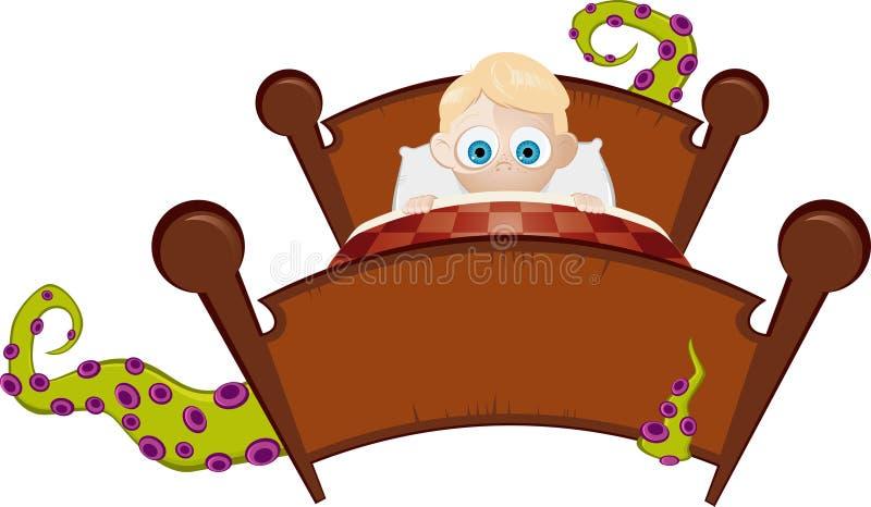 Monstruo bajo la cama libre illustration