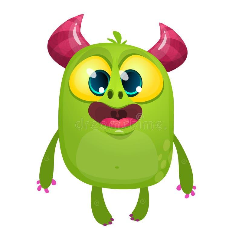 Monstruo contento feliz del bebé de la historieta Ilustración del vector de Víspera de Todos los Santos stock de ilustración