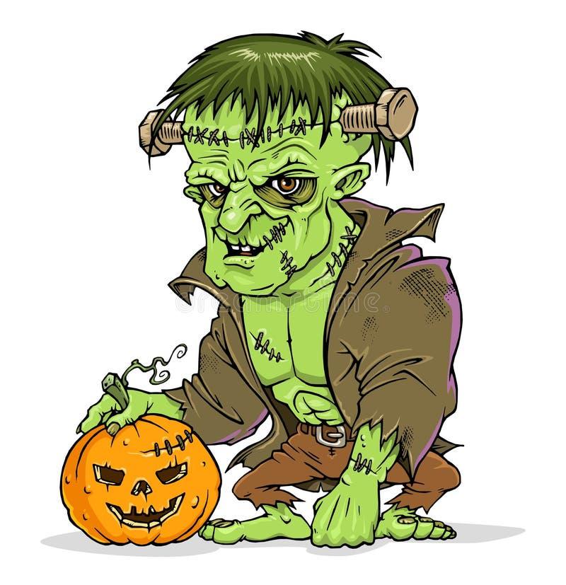 Monstruo de Frankenstein stock de ilustración