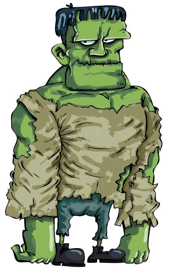 Monstruo de Frankenstein de la historieta stock de ilustración