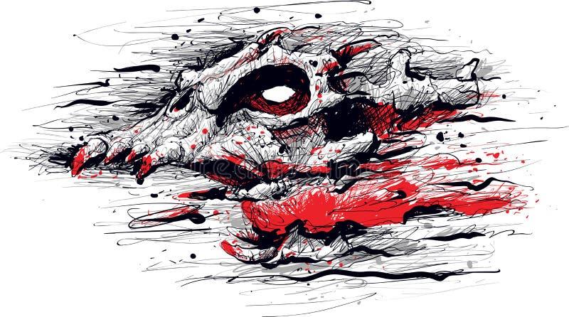 Monstruo de griterío del fantasma del demonio stock de ilustración