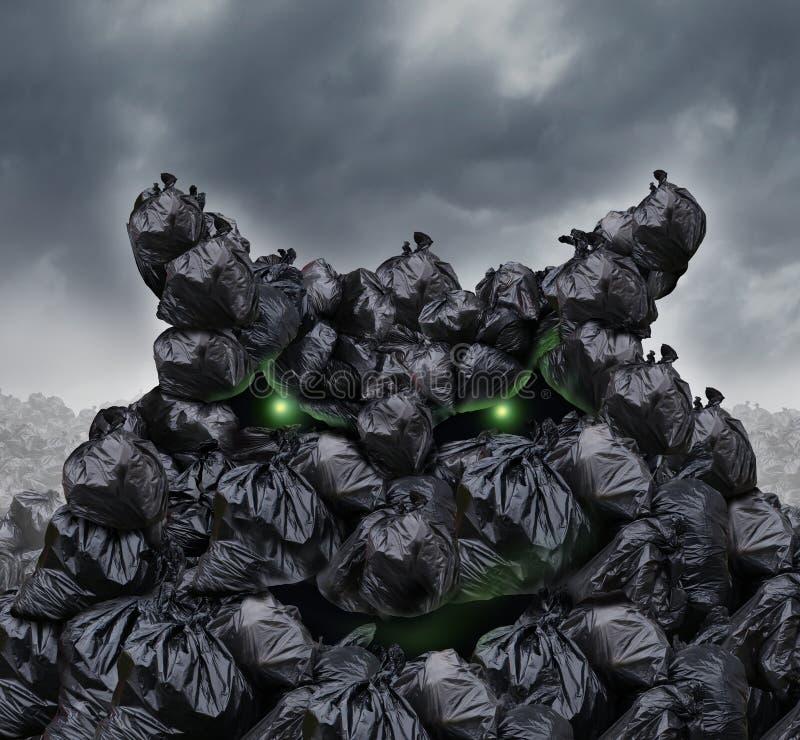 Monstruo de la basura libre illustration