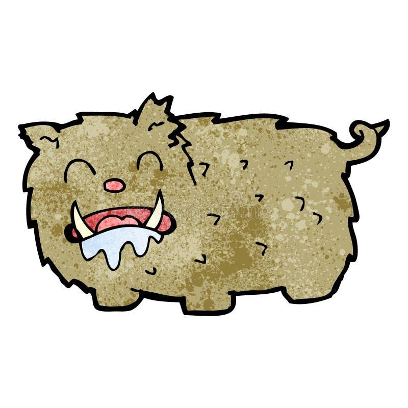 monstruo de la bestia de la historieta stock de ilustración